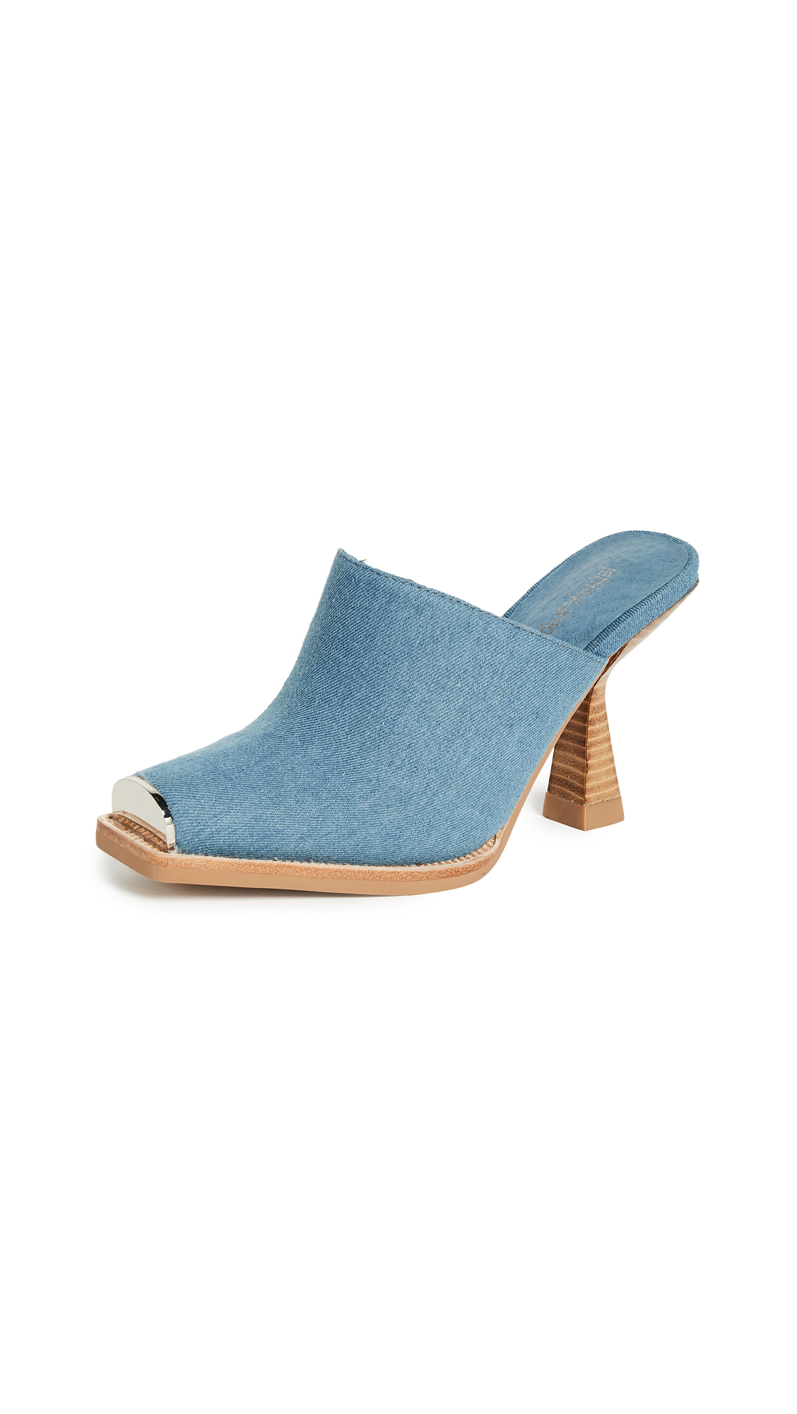 Jeffrey Campbell Real Mules - Blue Denim