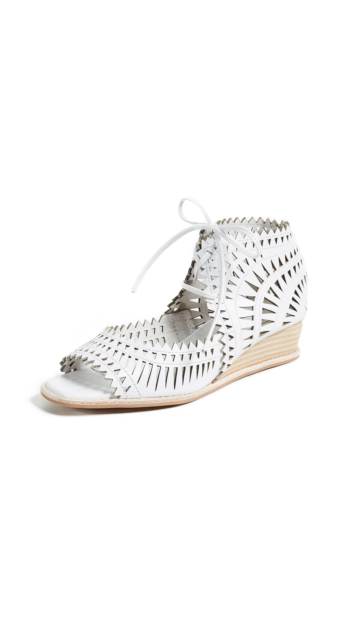 Jeffrey Campbell Rodillo Wedge Sandals - White