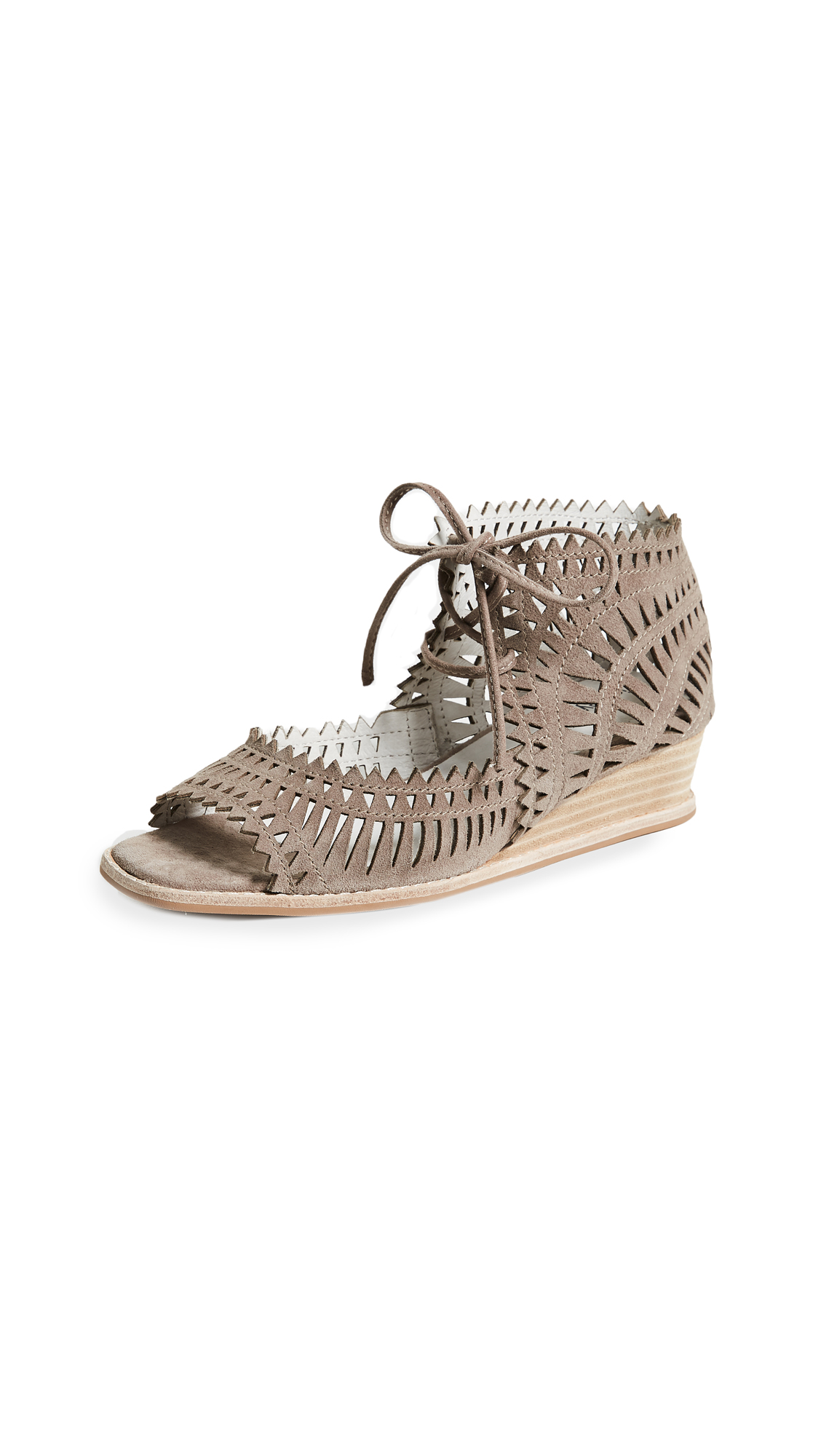 Jeffrey Campbell Rodillo Wedge Sandals - Taupe