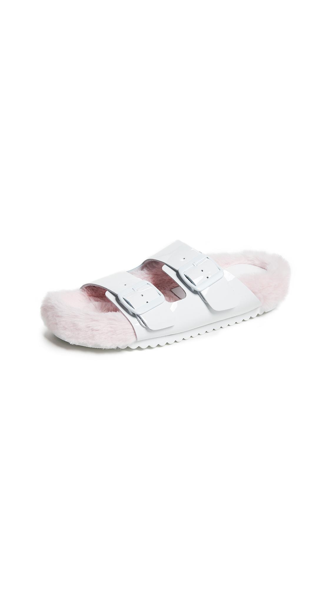 Jeffrey Campbell Tonga Slides - White/Pink