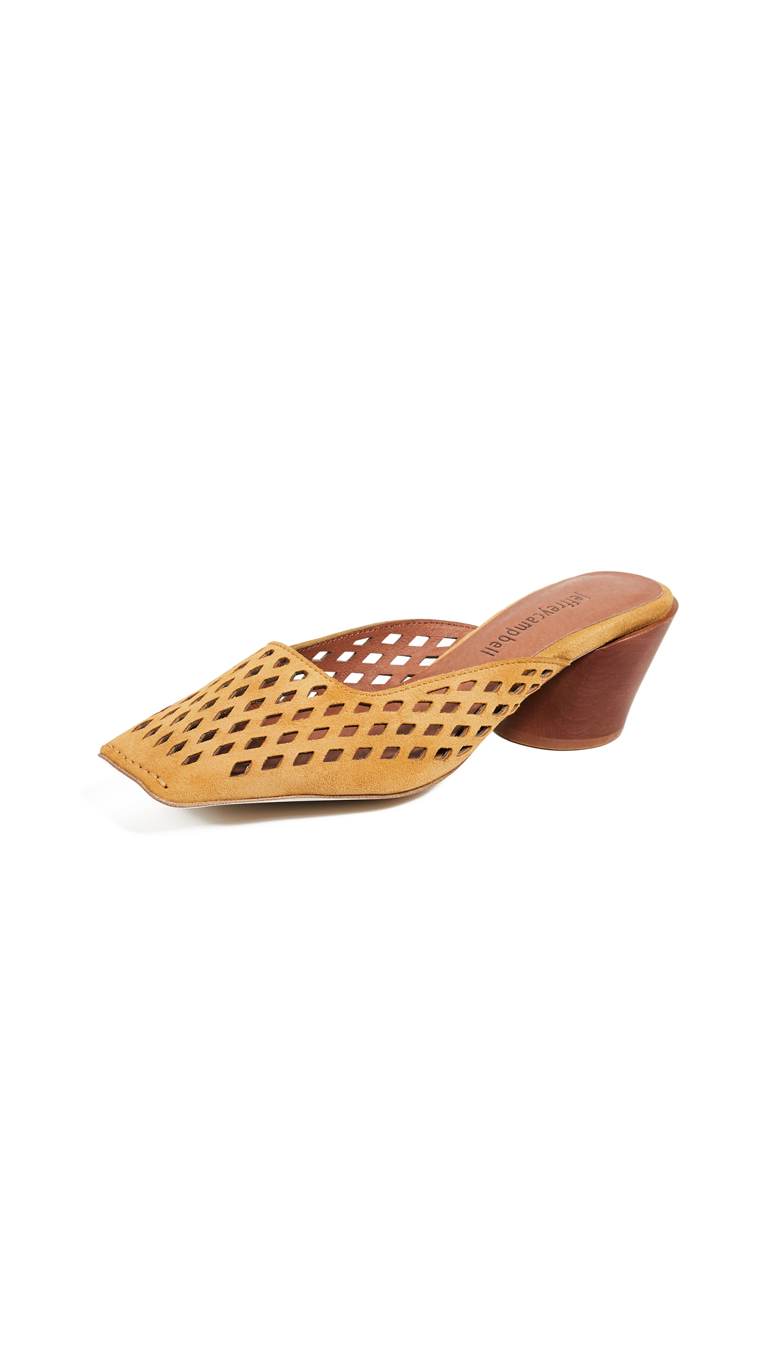Jeffrey Campbell Lakme Perforated Pumps - Mustard