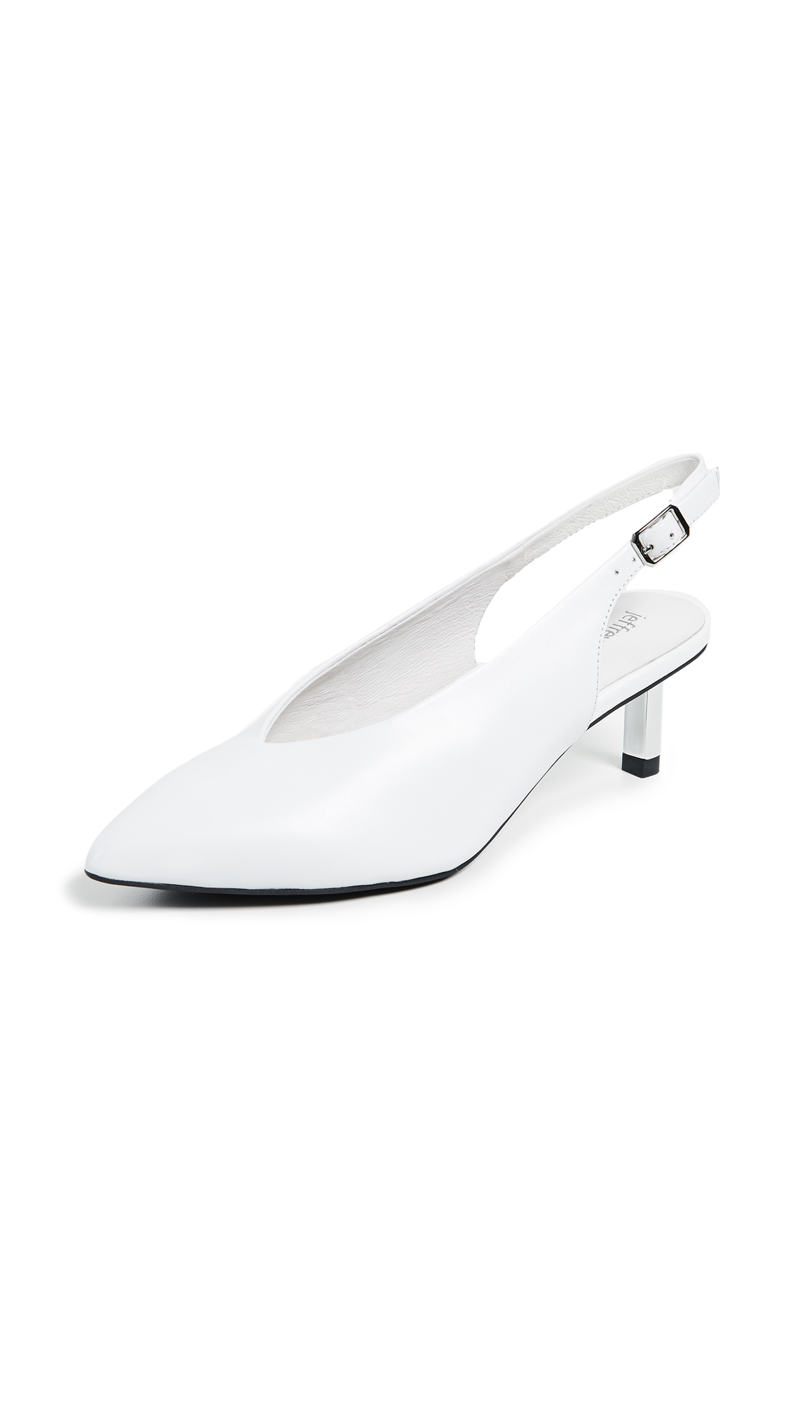 Jeffrey Campbell Beth Point Toe Slingback Pumps - White