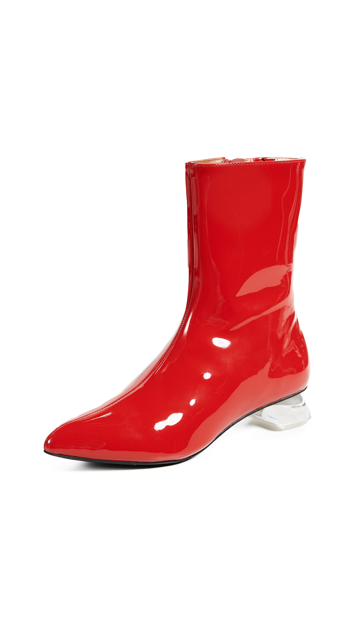 Jeffrey Campbell Skyrocket Ankle Boots - Red