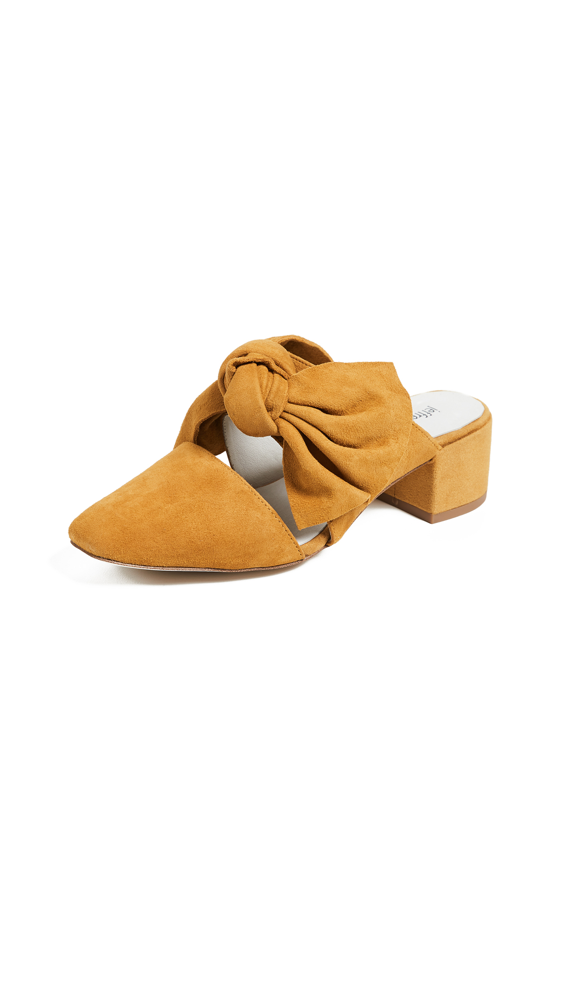 Jeffrey Campbell Tori Block Heel Mules - Mustard
