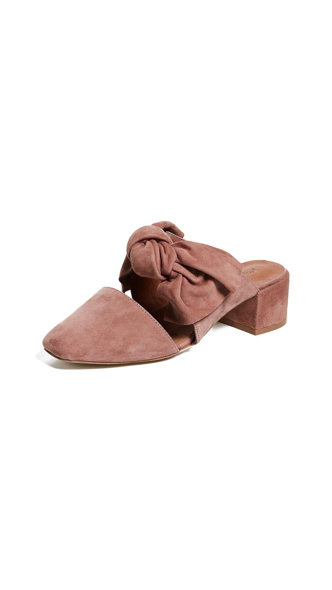 Jeffrey Campbell Tori Block Heel Mules - Dusty Rose