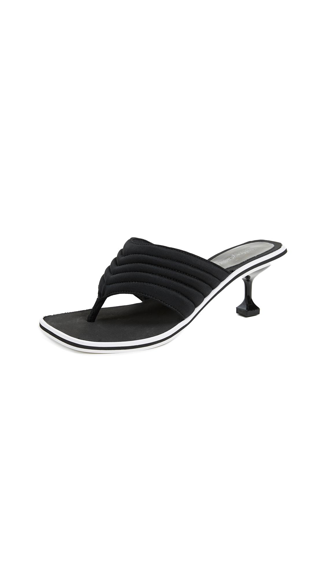 Jeffrey Campbell Overtime Kitten Heel Flip Flops - Black