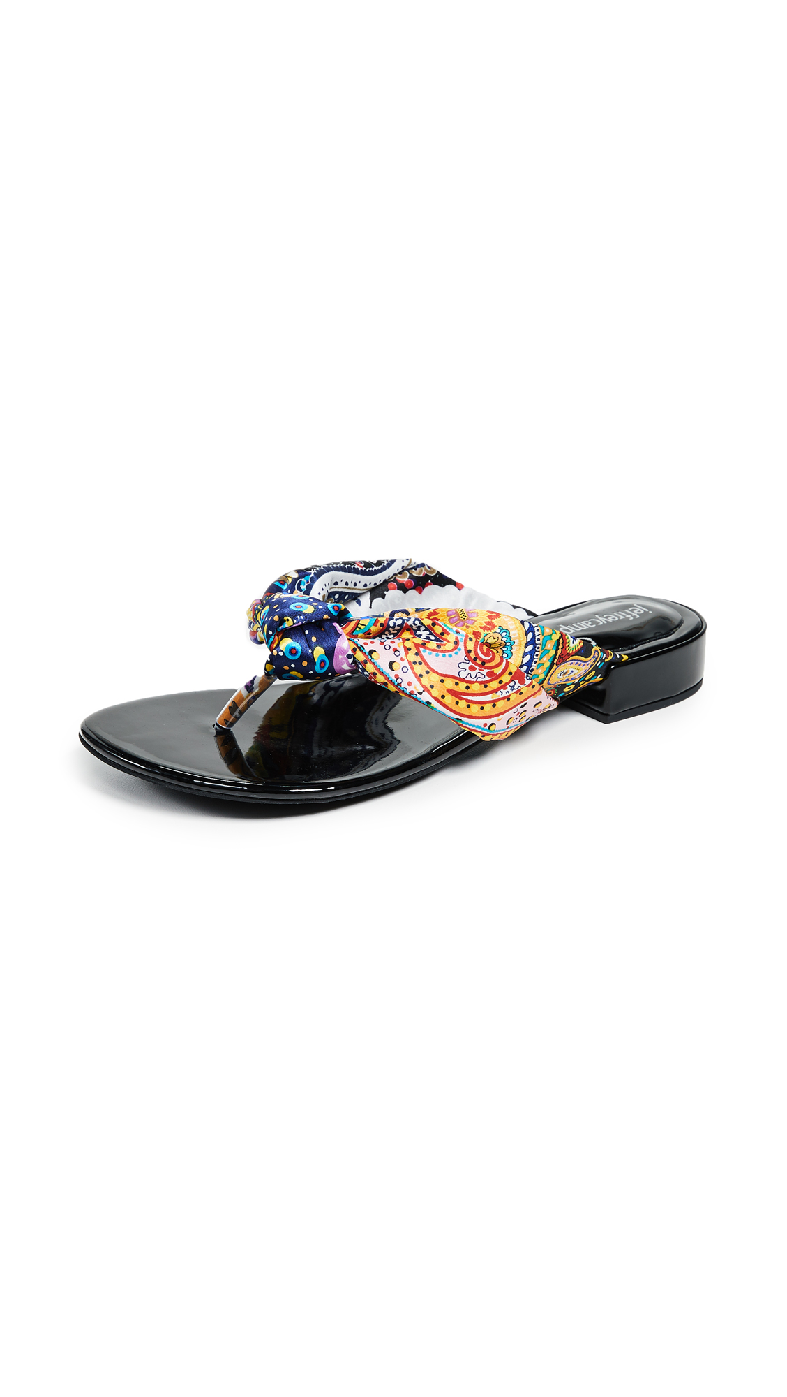 Jeffrey Campbell Tampa Chic Flop Flops - Black/Multi