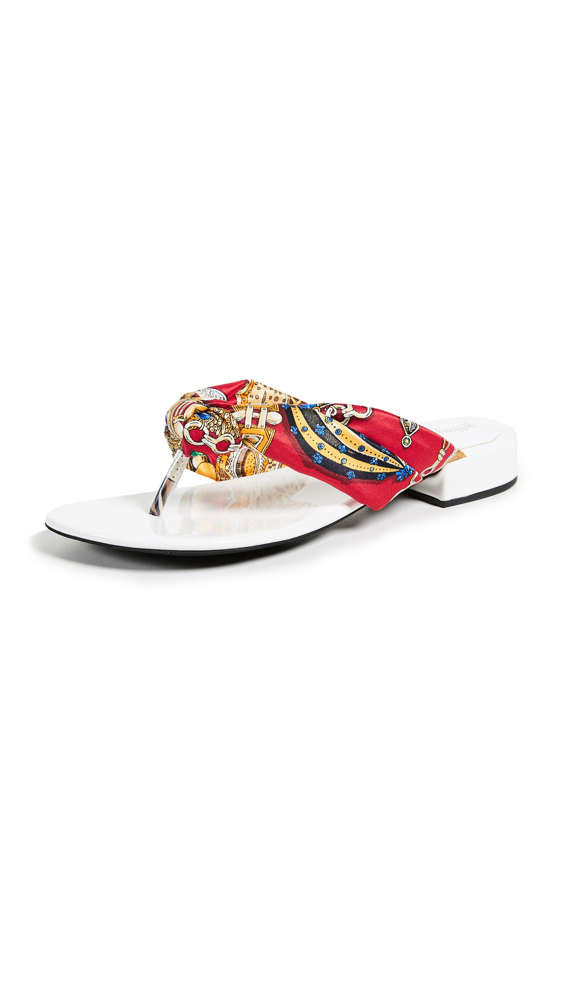Jeffrey Campbell Tampa Chic Flop Flops - White/Red