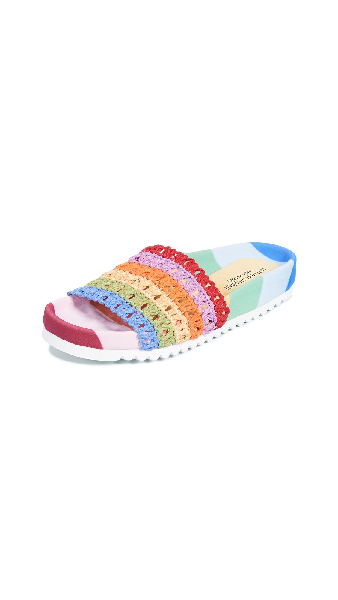 Jeffrey Campbell Coco Rainbow Slides - Rainbow