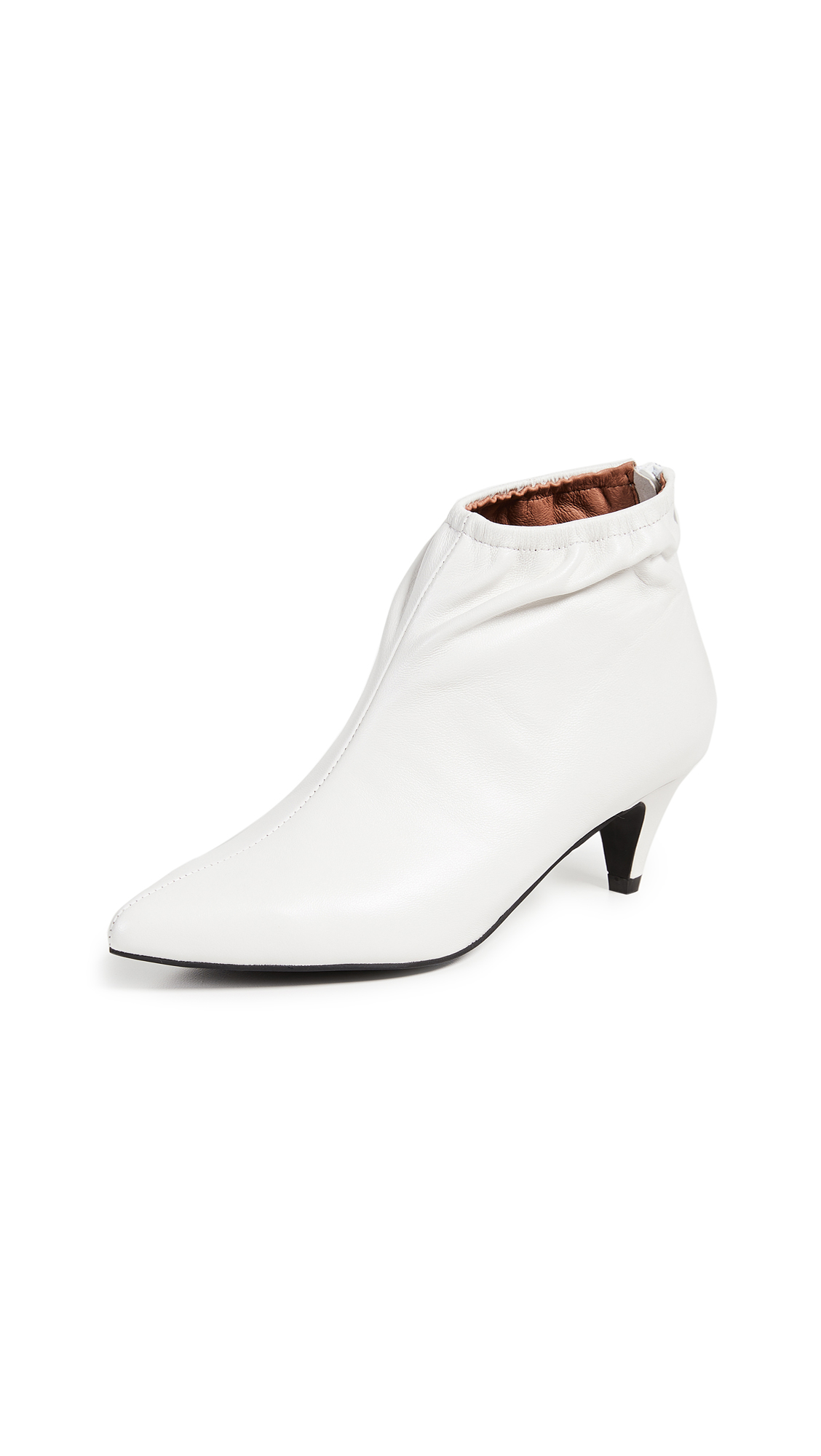 Jeffrey Campbell Zosia Low Heel Booties - White