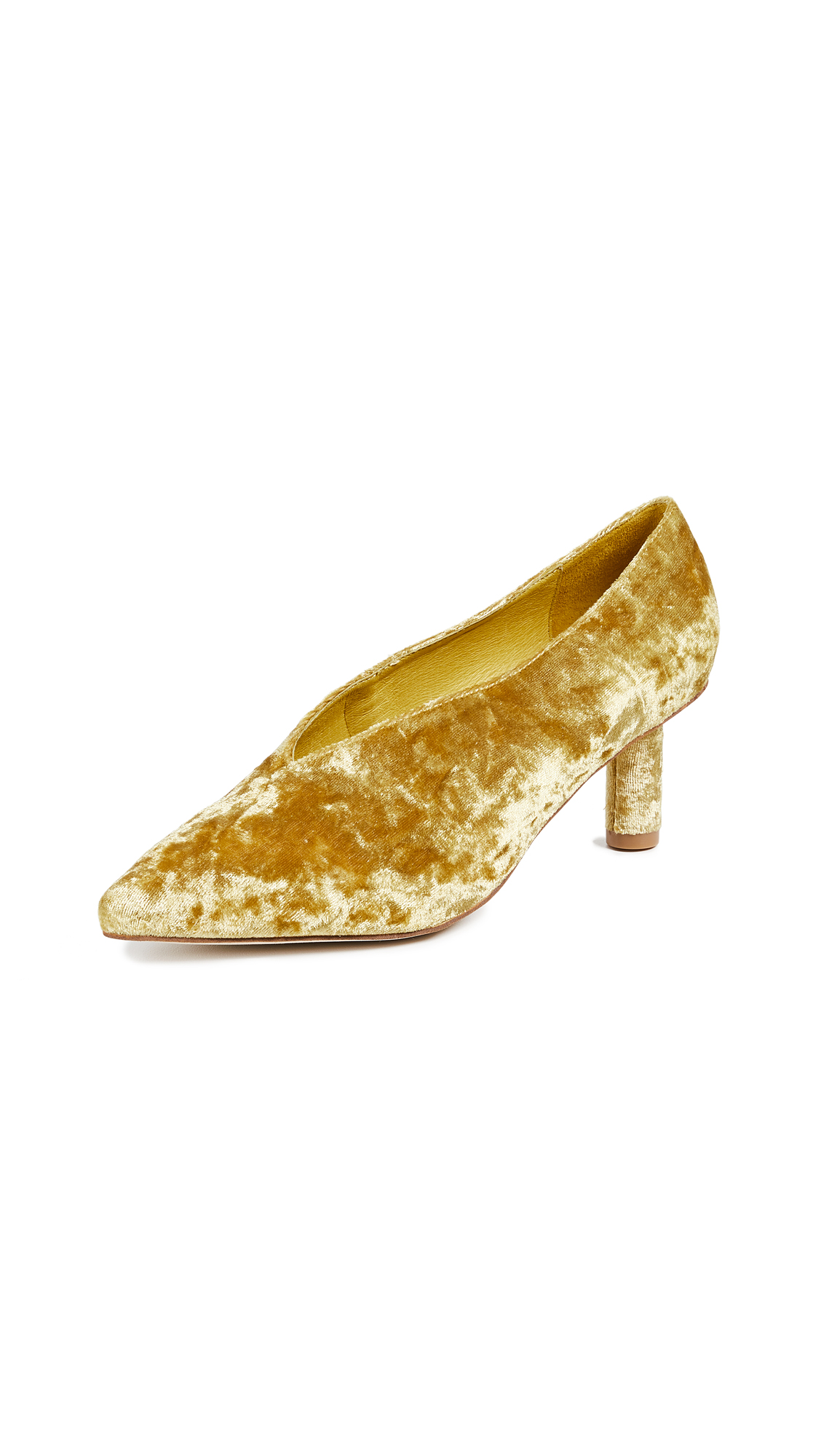 Jeffrey Campbell Carla Point Toe Pumps - Mustard