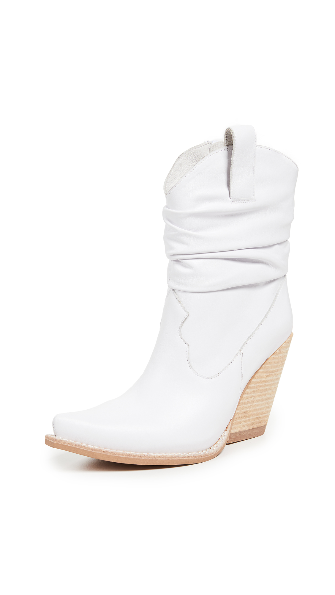 Jeffrey Campbell Volcanic Western Booties - White/Tan
