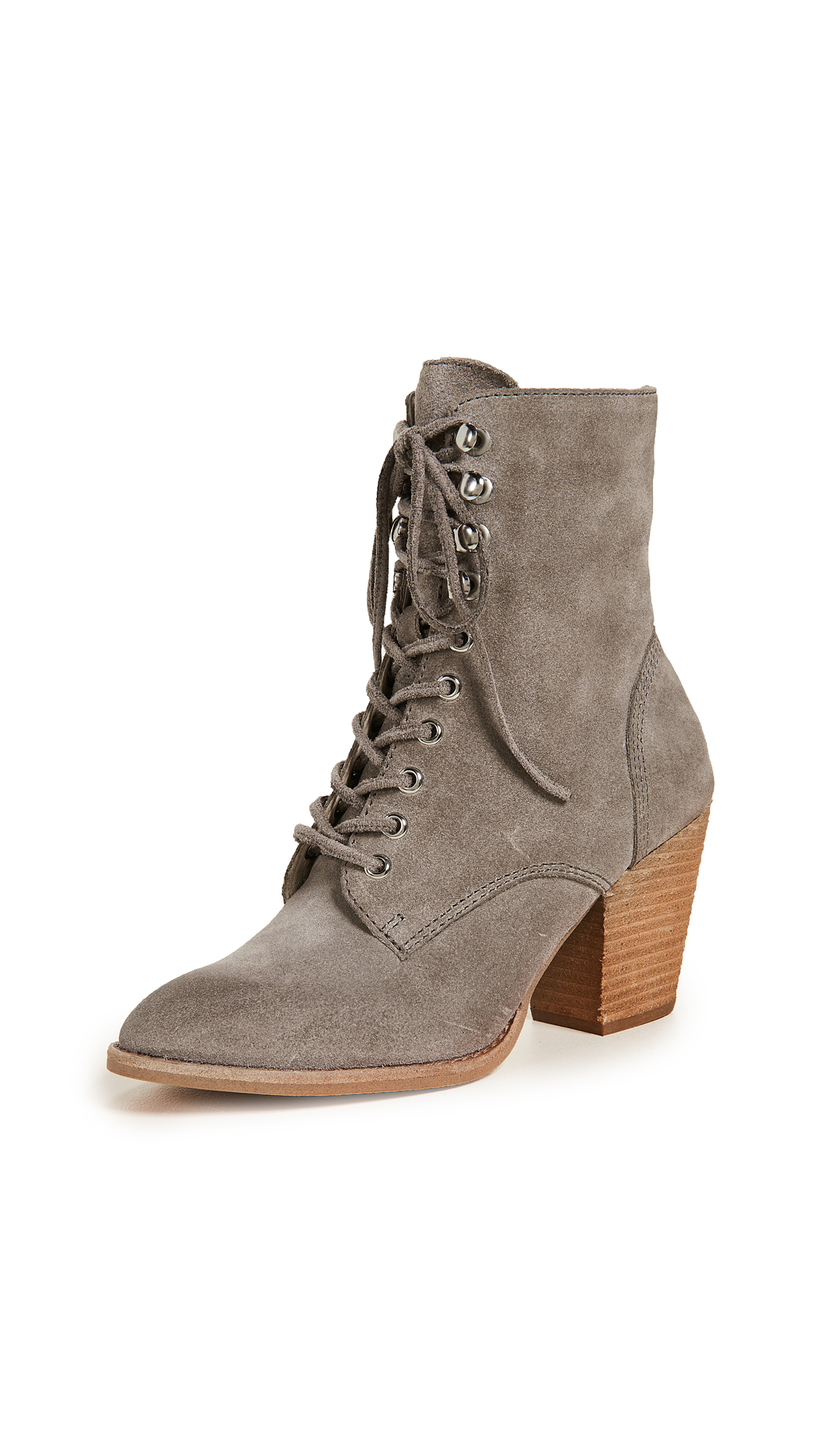 Jeffrey Campbell Elman Lace Up Boots - Taupe