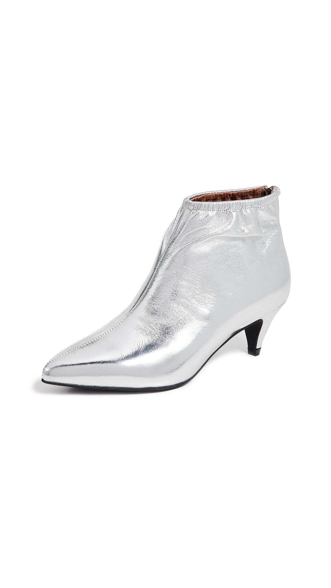 Jeffrey Campbell Zosia Low Heel Booties - Silver