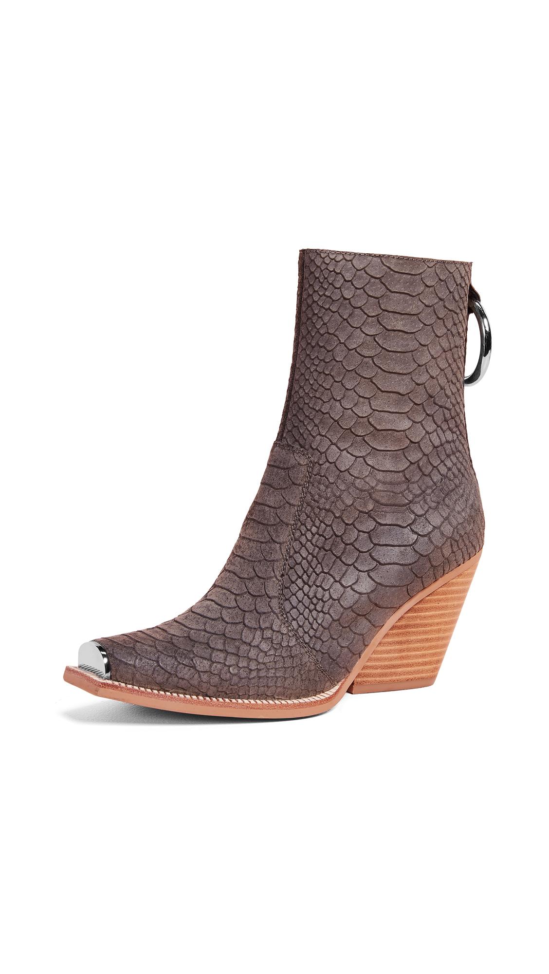 Jeffrey Campbell Nobu Boots In Khaki