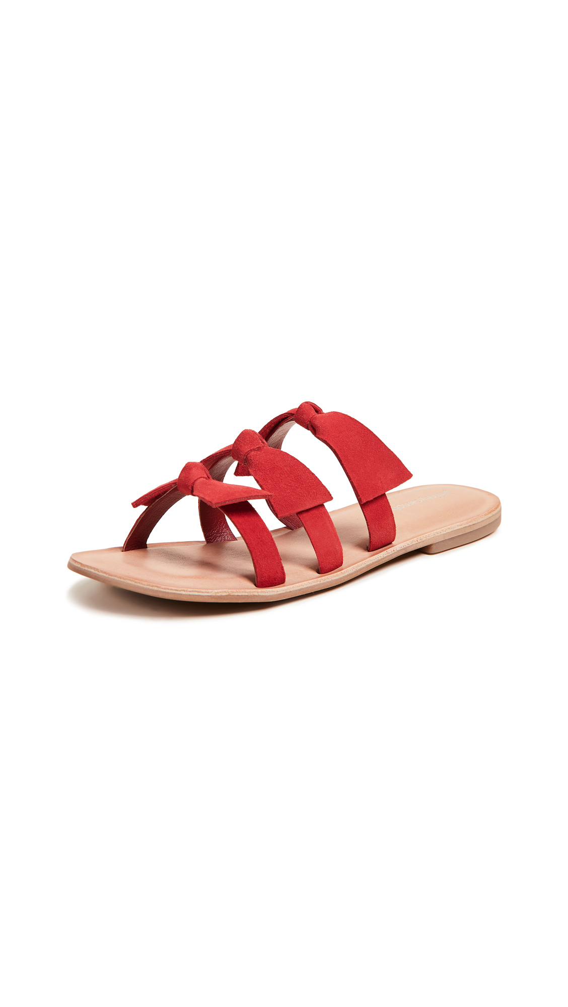 Jeffrey Campbell Atone Bow Sandals - Red