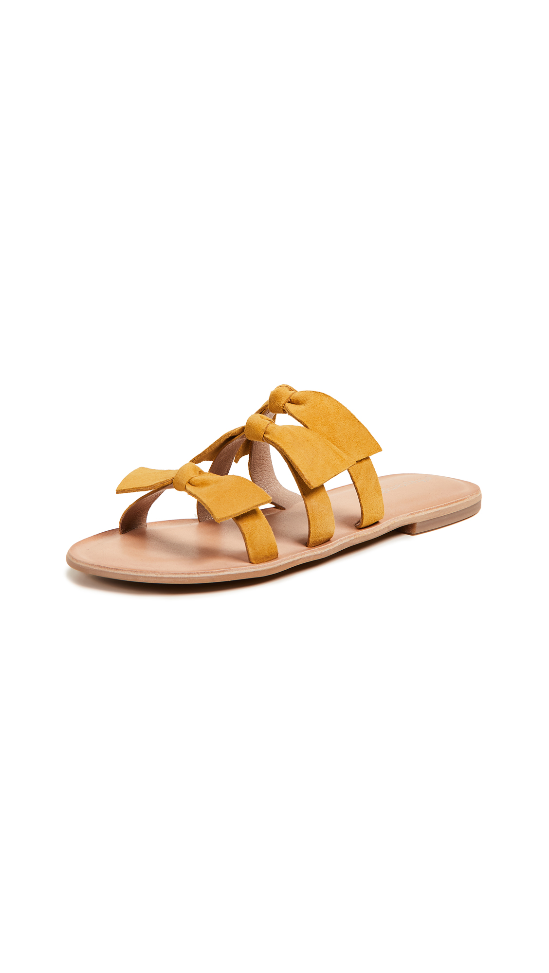 Jeffrey Campbell Atone Bow Sandals - Mustard