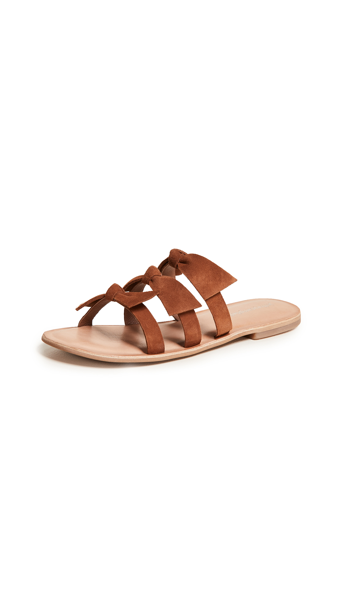 Jeffrey Campbell Atone Bow Sandals - Tan