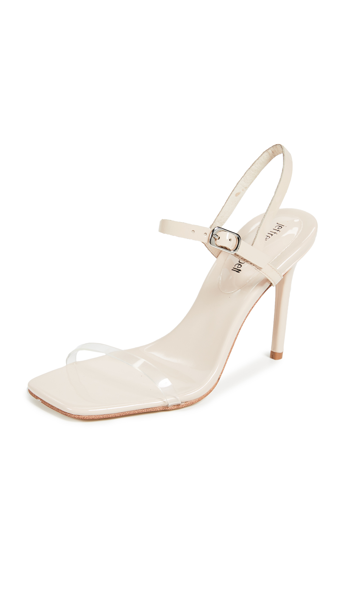 Jeffrey Campbell Get Busy Strappy Sandals - Nude/Clear