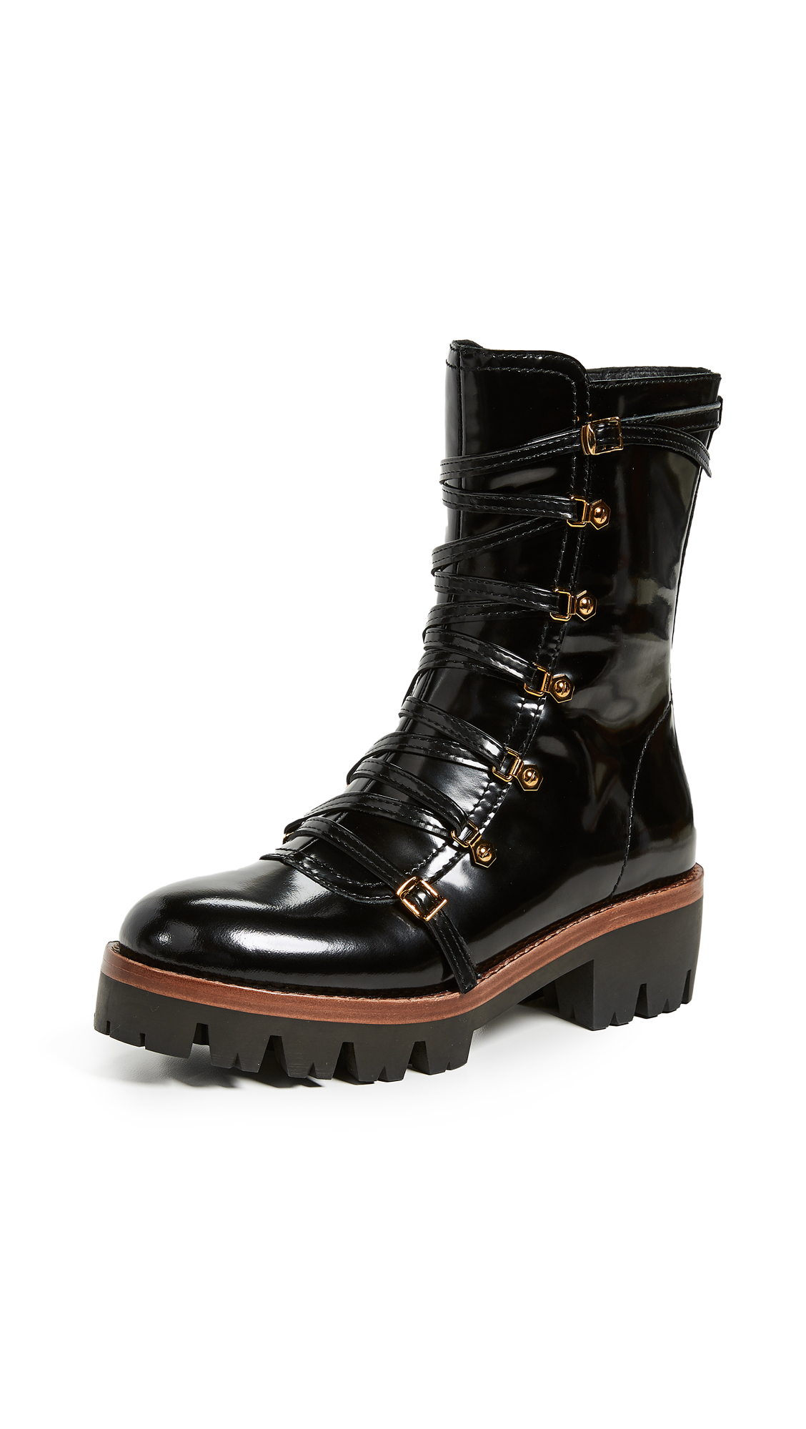 Jeffrey Campbell Combat Lug Sole Boots - Black Box