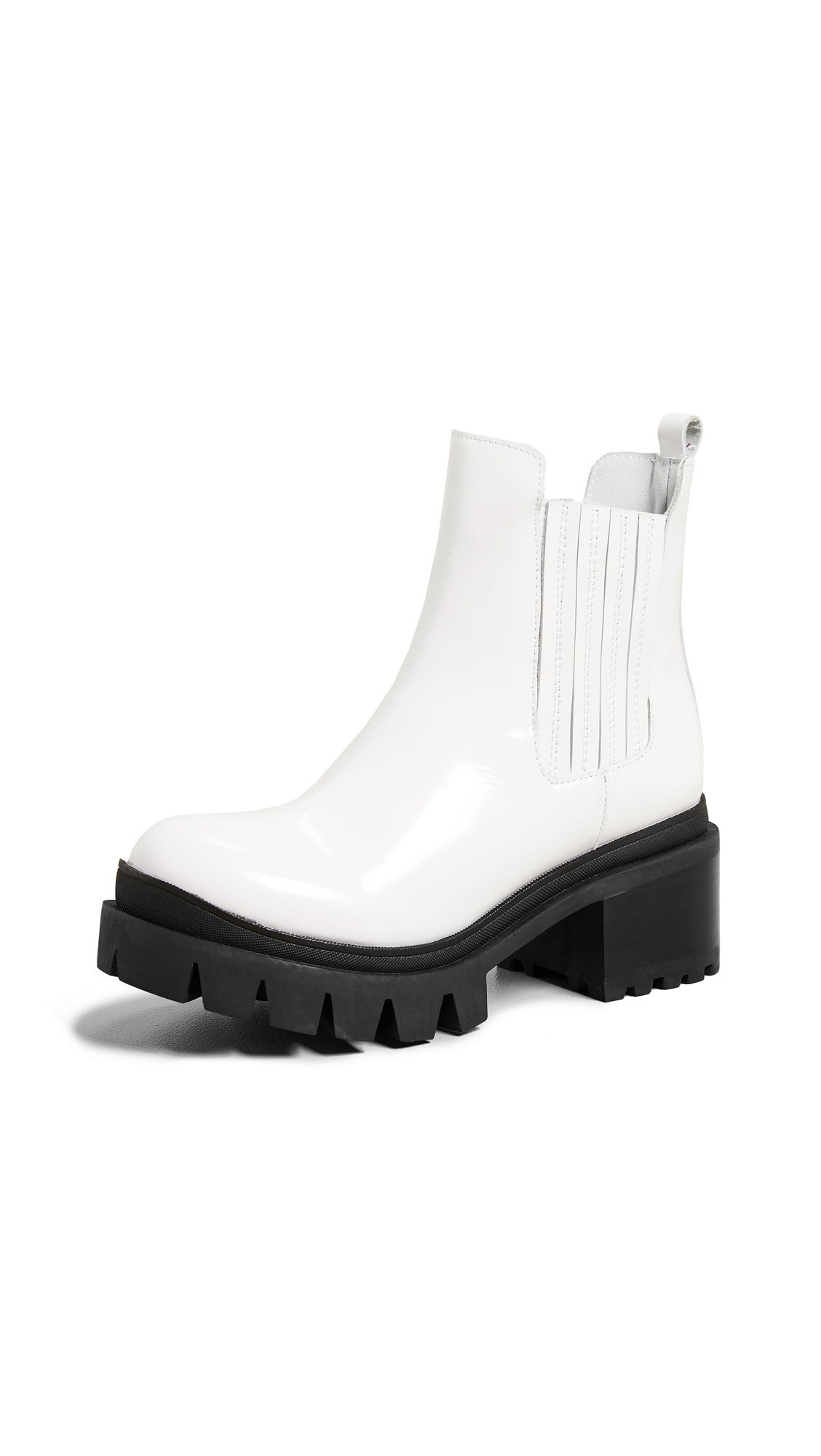 Jeffrey Campbell Fright Lug Sole Chelsea Boots - White Box