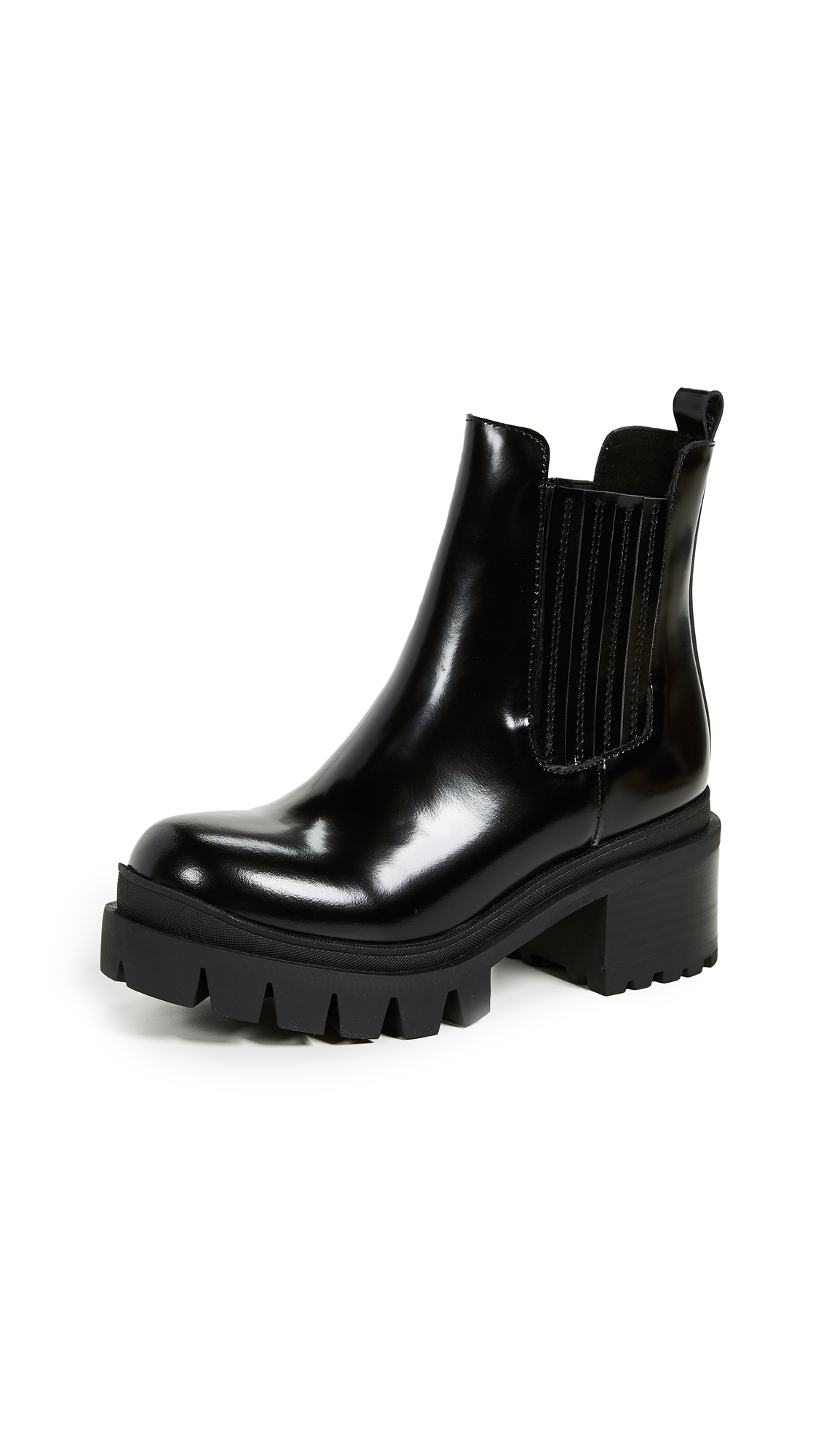 Jeffrey Campbell Fright Lug Sole Chelsea Boots - Black Box
