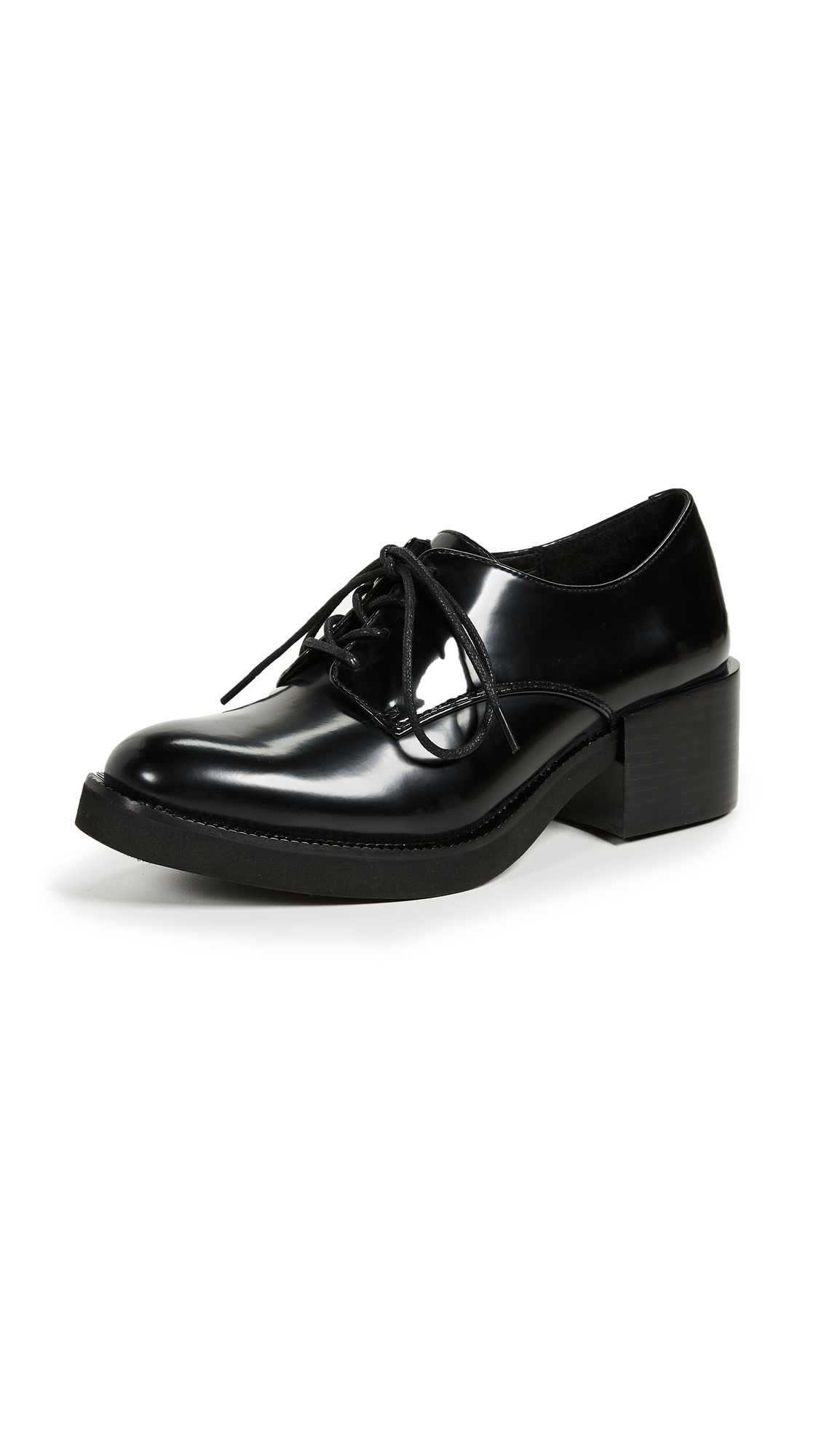 Jeffrey Campbell Patrice Platform Oxfords - Black Box