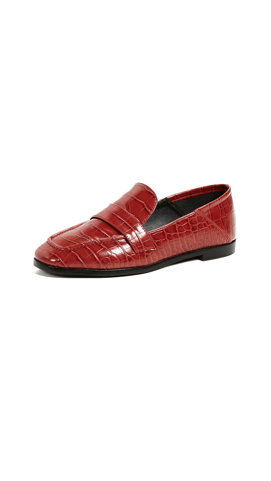 Jeffrey Campbell Jesse III Loafers - Red Croco