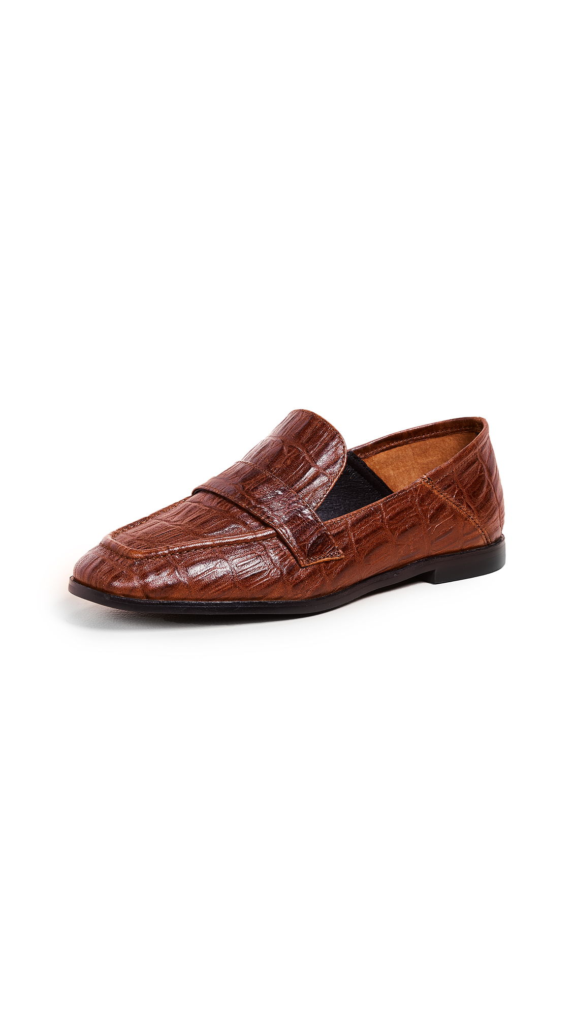 Jeffrey Campbell Jesse III Loafers - Cognac Croco