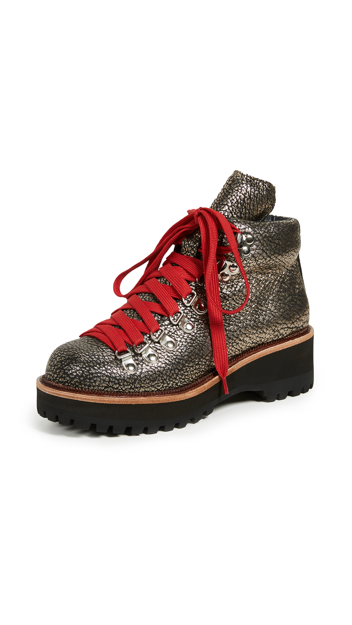 Jeffrey Campbell Explorer Wedge Hiking Booties - Pewter