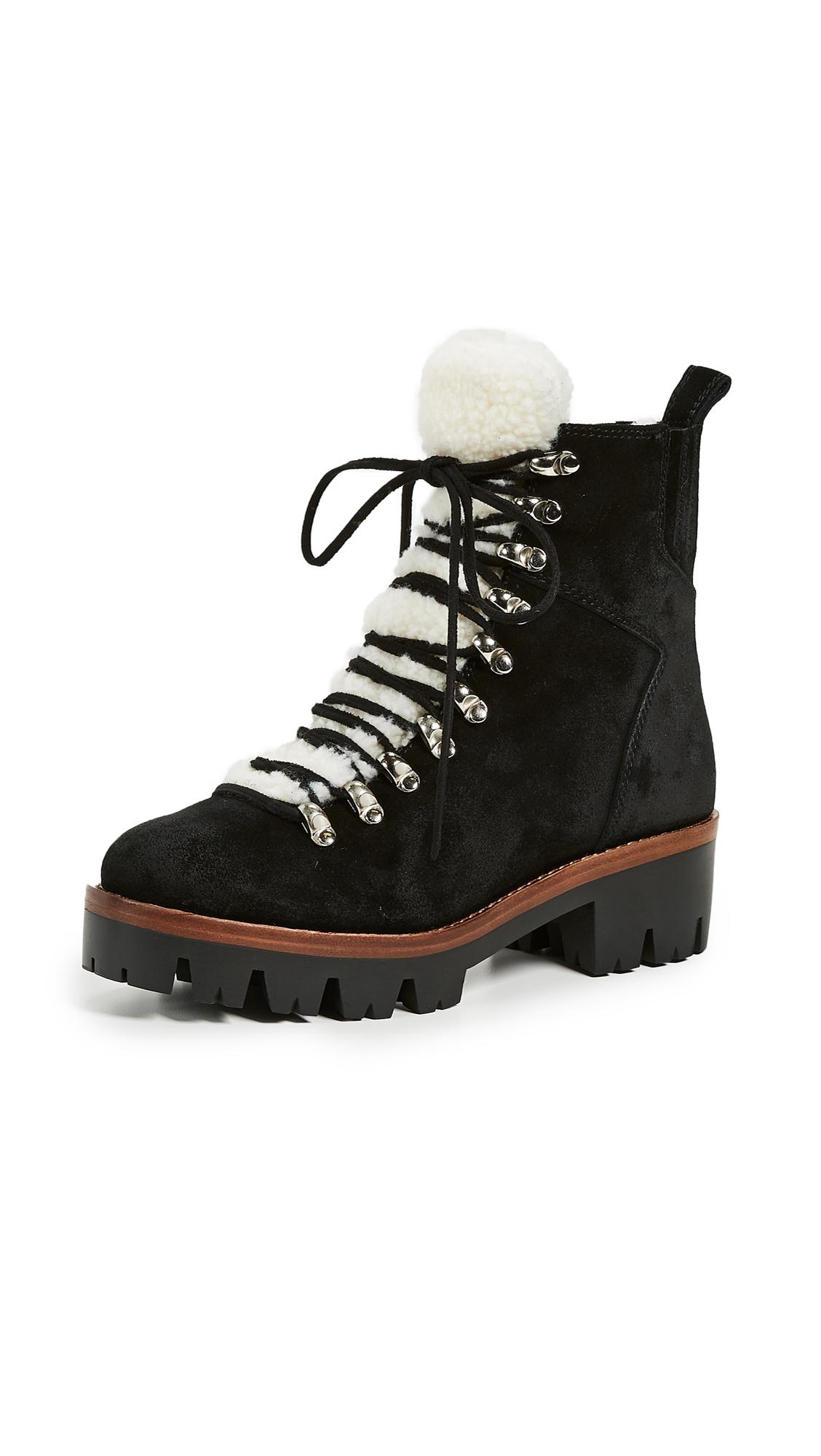 Jeffrey Campbell Culvert Sherpa Combat Boots - Black
