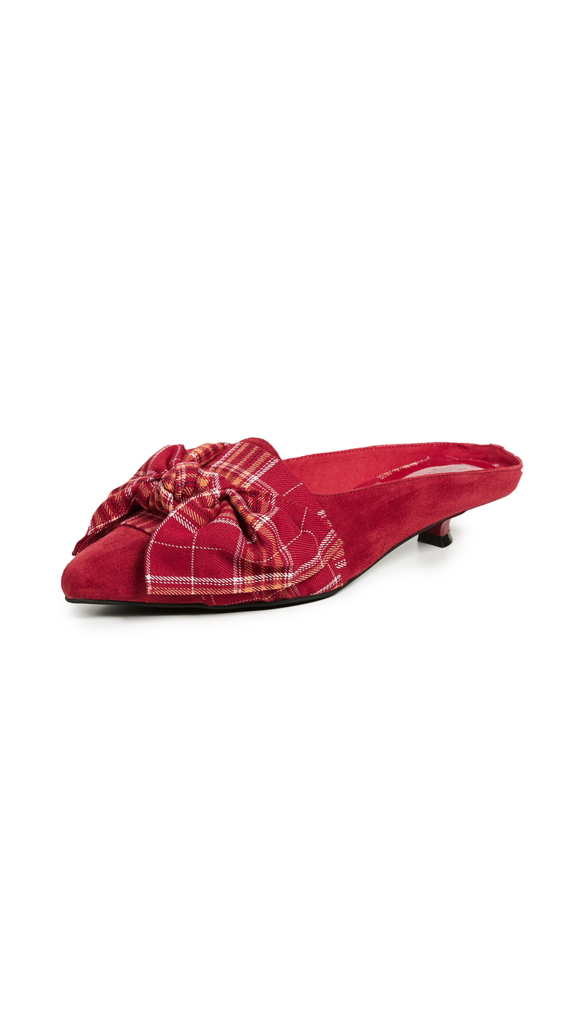 Jeffrey Campbell Graceful Point Toe Mules - Red
