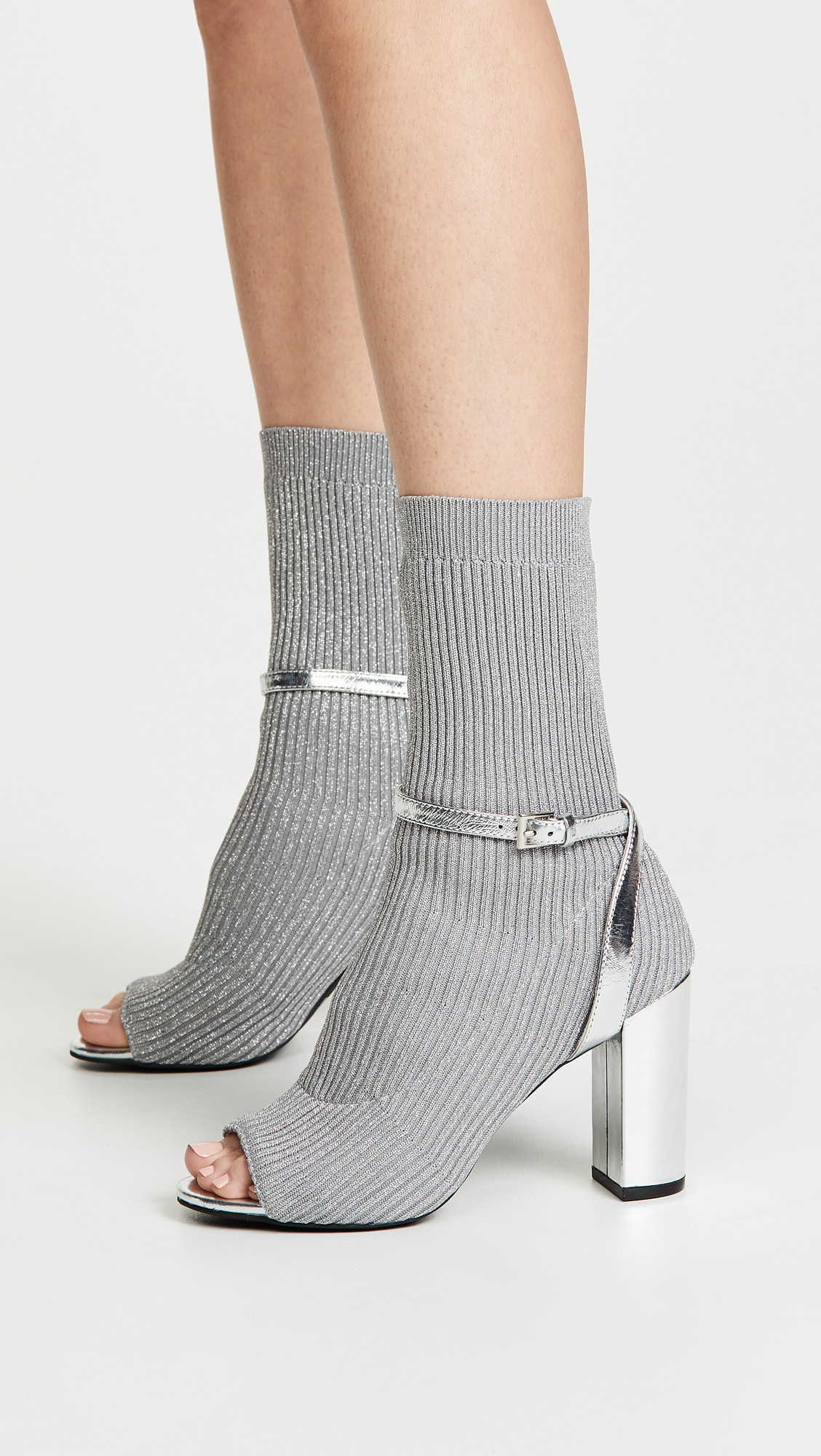 538a8eb1cd84 Jeffrey Campbell Nila Sock Booties