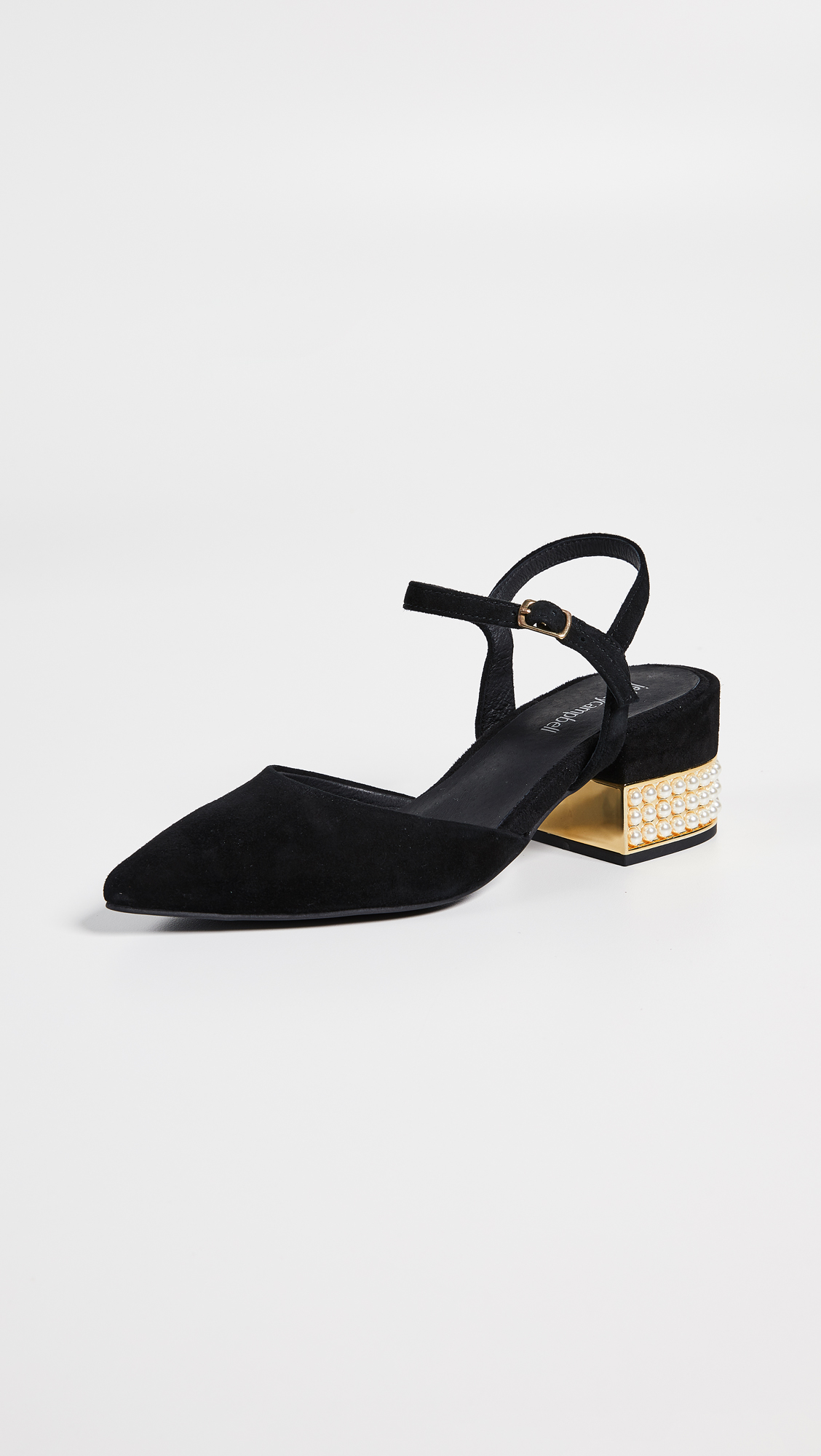 Jeffrey Campbell Tulip Ankle Strap Pumps Shopbop Mary Janes Straps Circle Block Pointed Toe Wedges Shoes Black