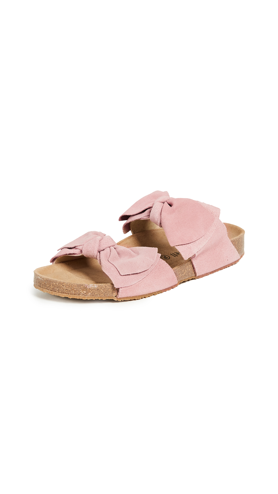 Jeffrey Campbell Lanai Bow Slides - Blush
