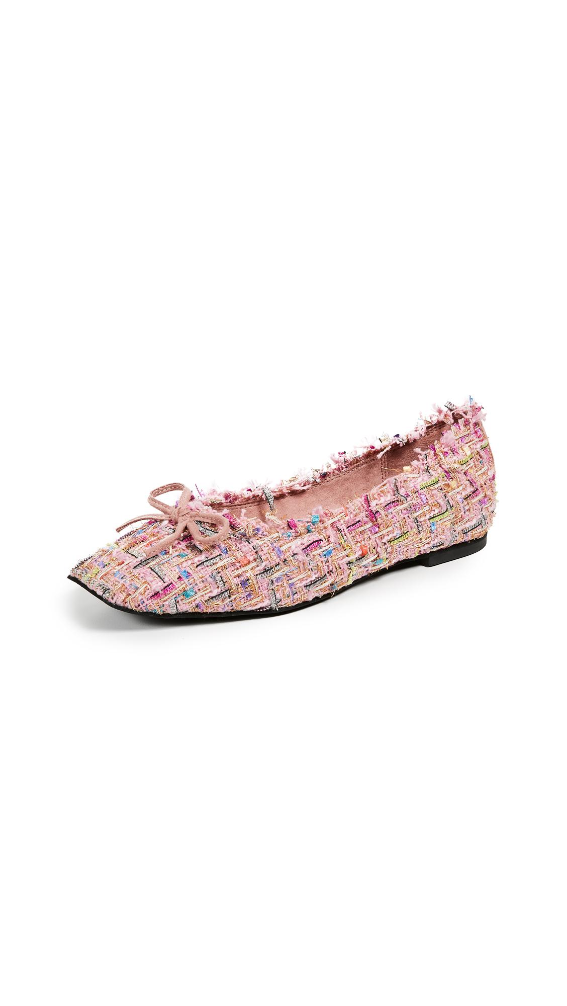 Jeffrey Campbell Achira Square Toe Flats - Pink Multi