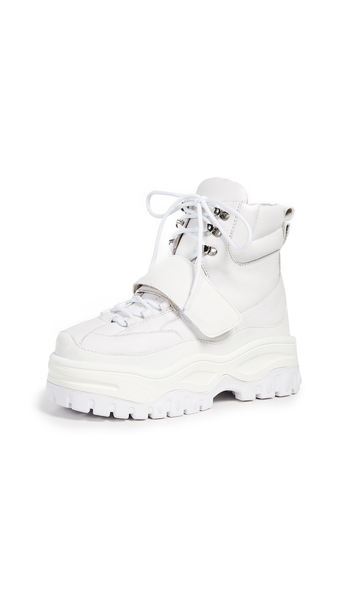 Jeffrey Campbell Fonzie High Top Sneakers In White