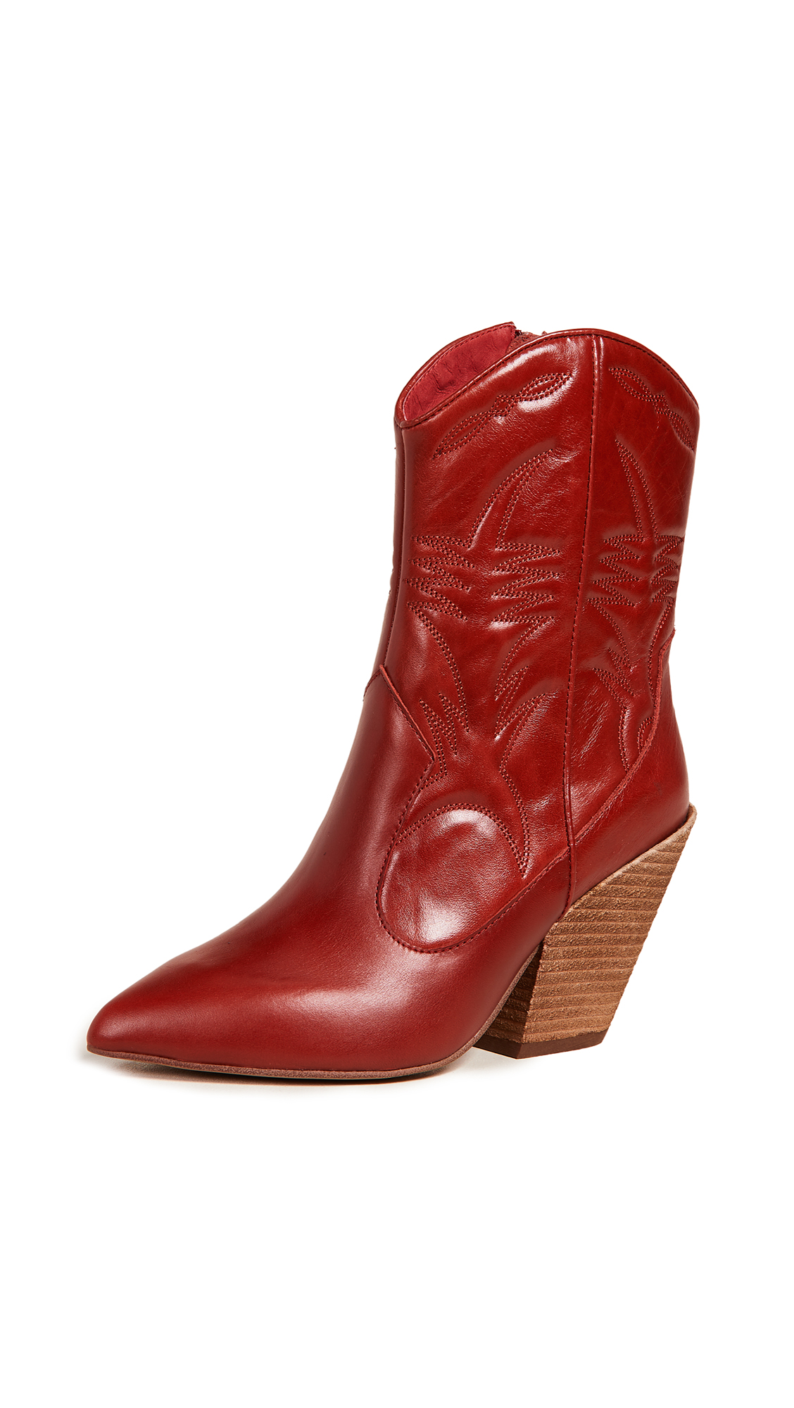 Jeffrey Campbell Midpark Western Boots - Red