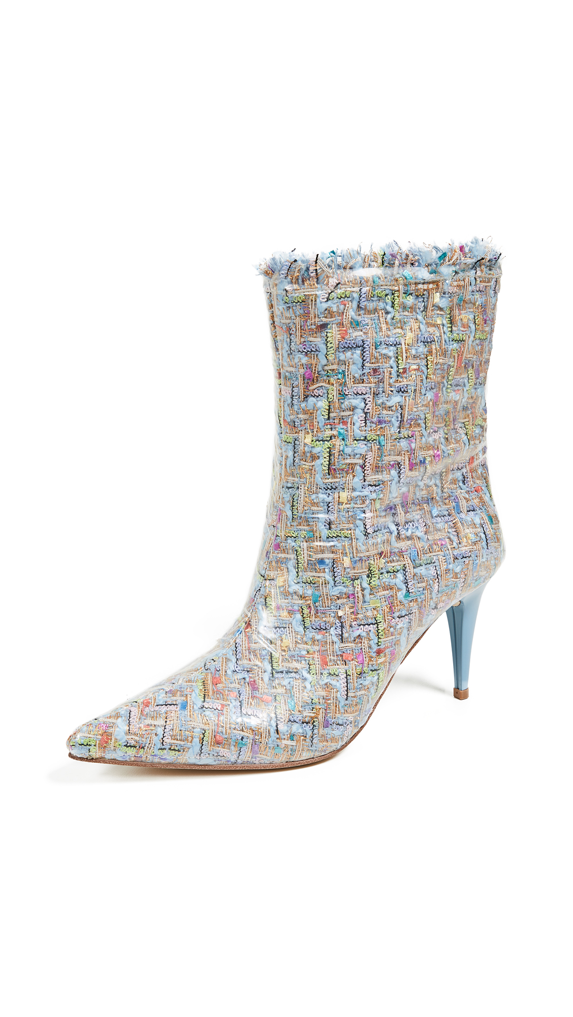 Jeffrey Campbell Plastique Point Toe Boots - Baby Blue/Clear