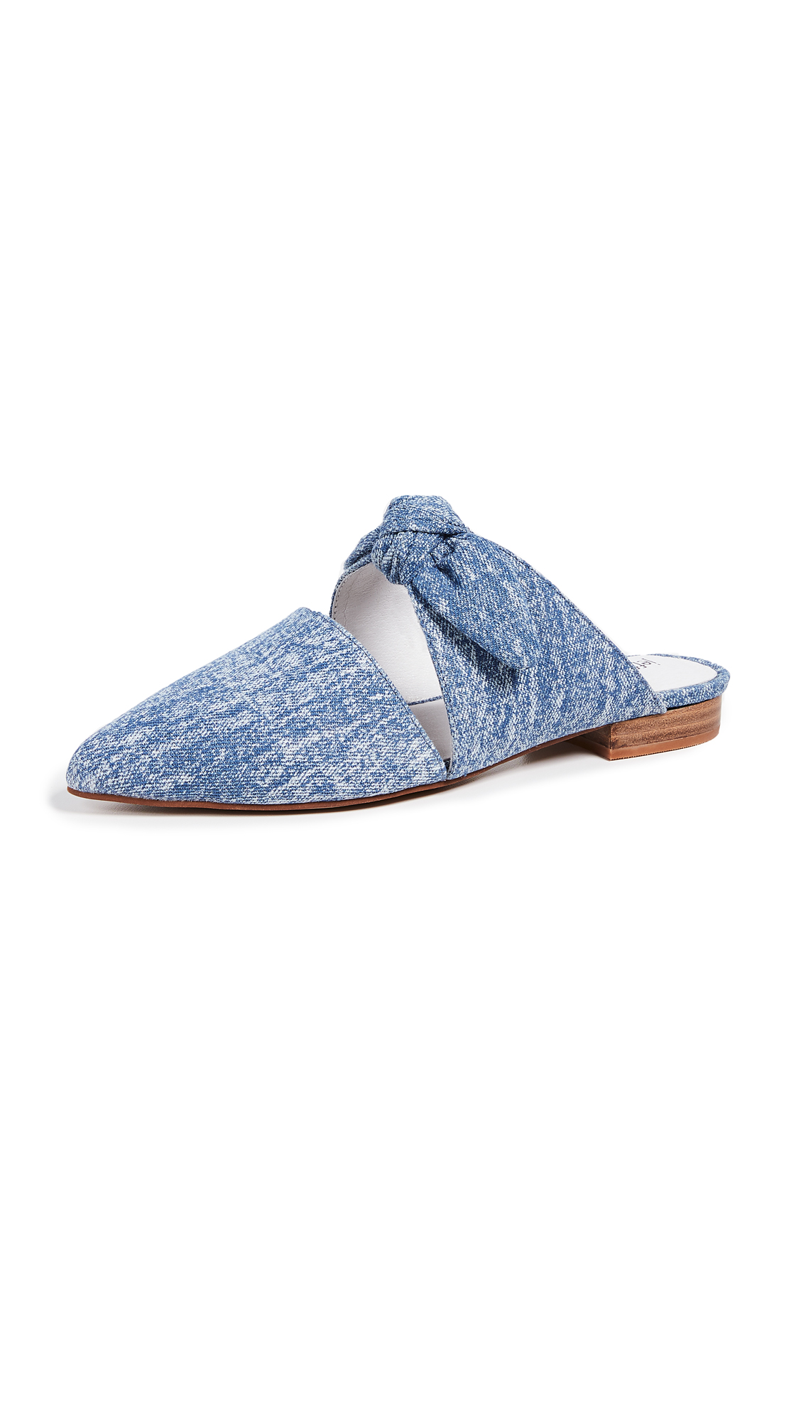 Jeffrey Campbell Charlin Point Toe Mules - Blue Denim