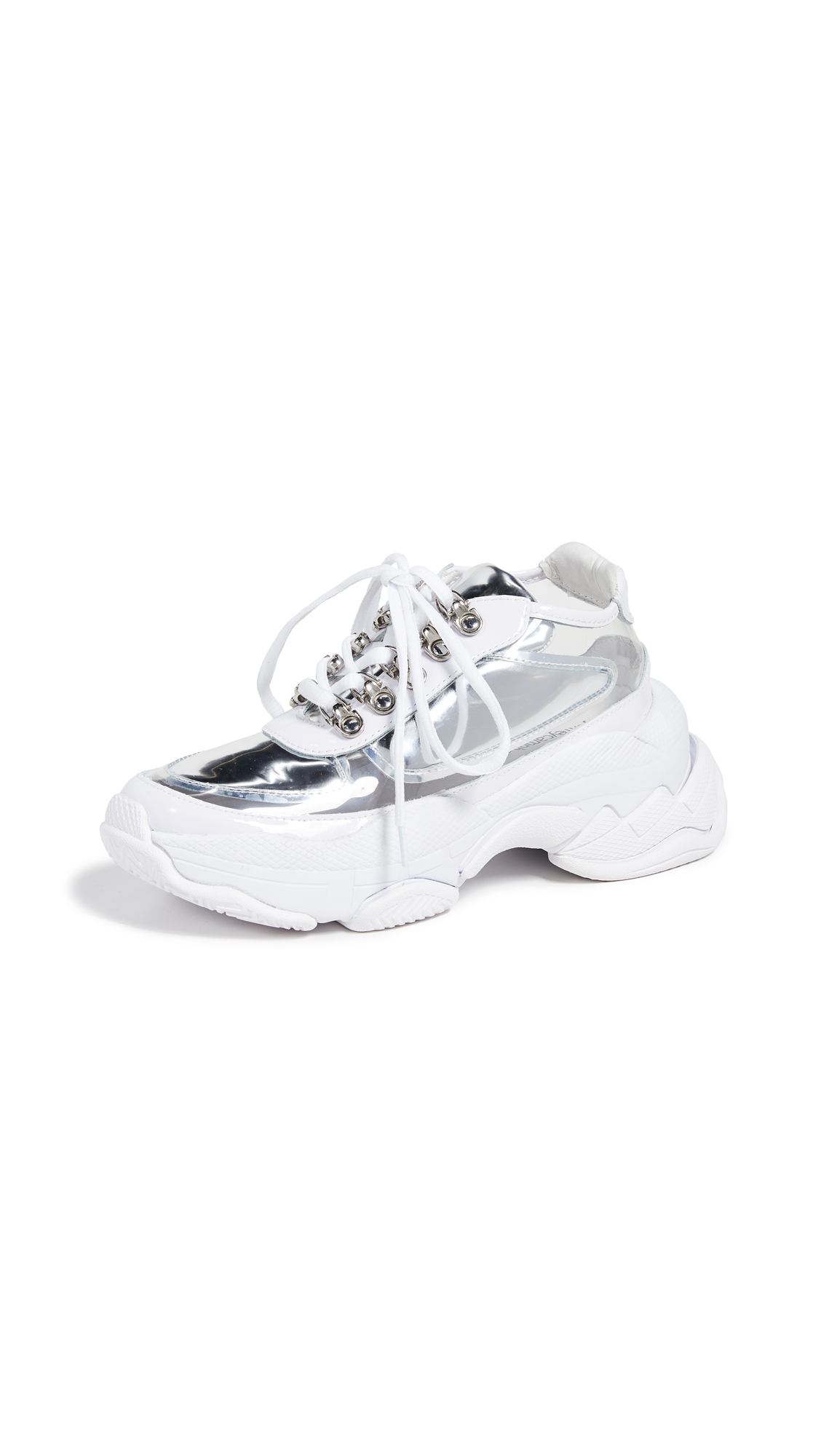 Jeffrey Campbell LO-FI Sneakers - Silver/Clear
