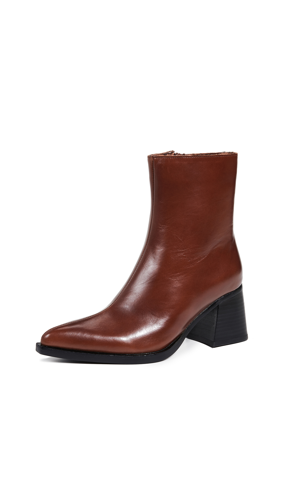 Jeffrey Campbell Hinge Block Heel Booties - Brown