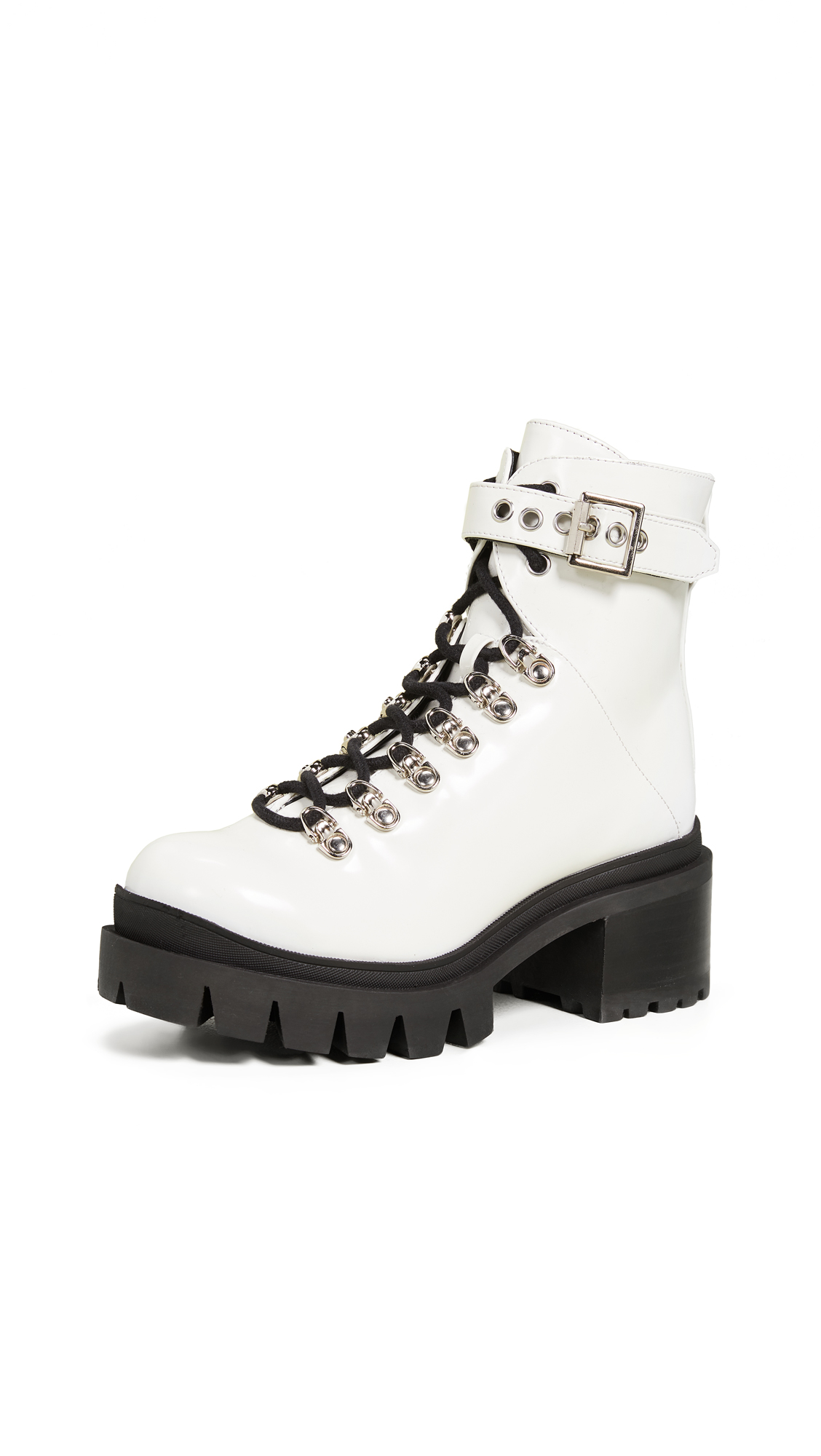 Jeffrey Campbell Czech Combat Boots - White