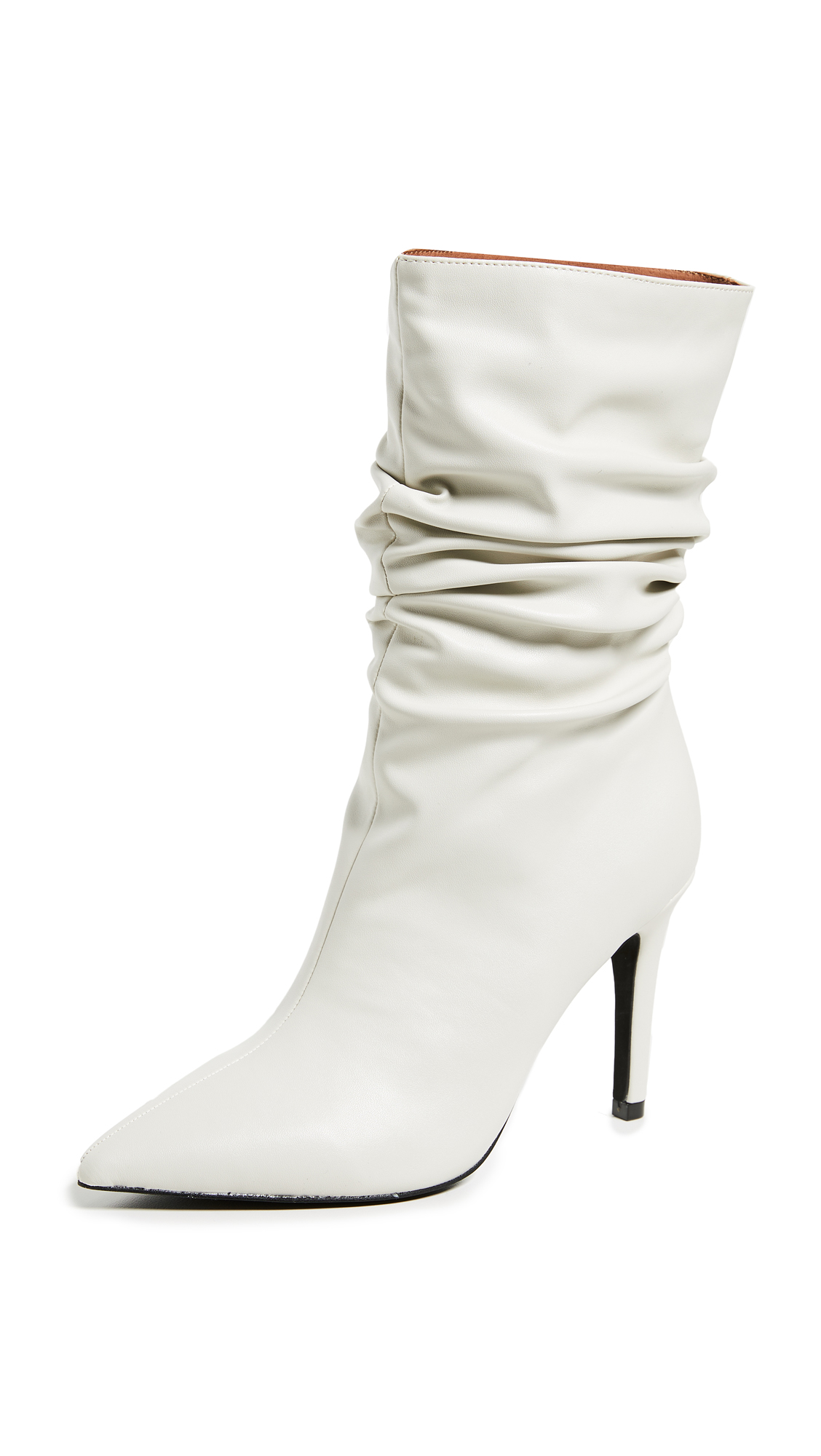 Jeffrey Campbell Guillot Point Toe Boots - Ivory
