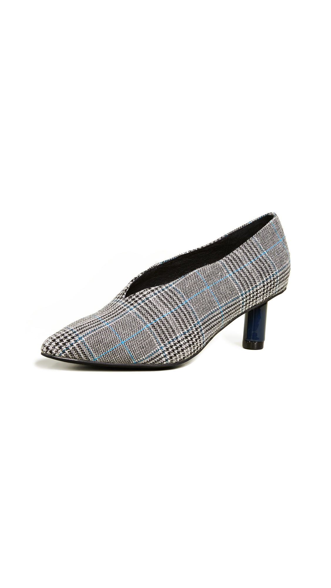 Jeffrey Campbell Carla 2 Pumps - Blue Plaid/Navy