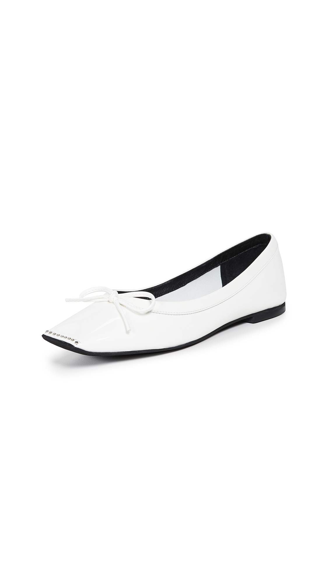 Jeffrey Campbell Achira Square Toe Flats - White