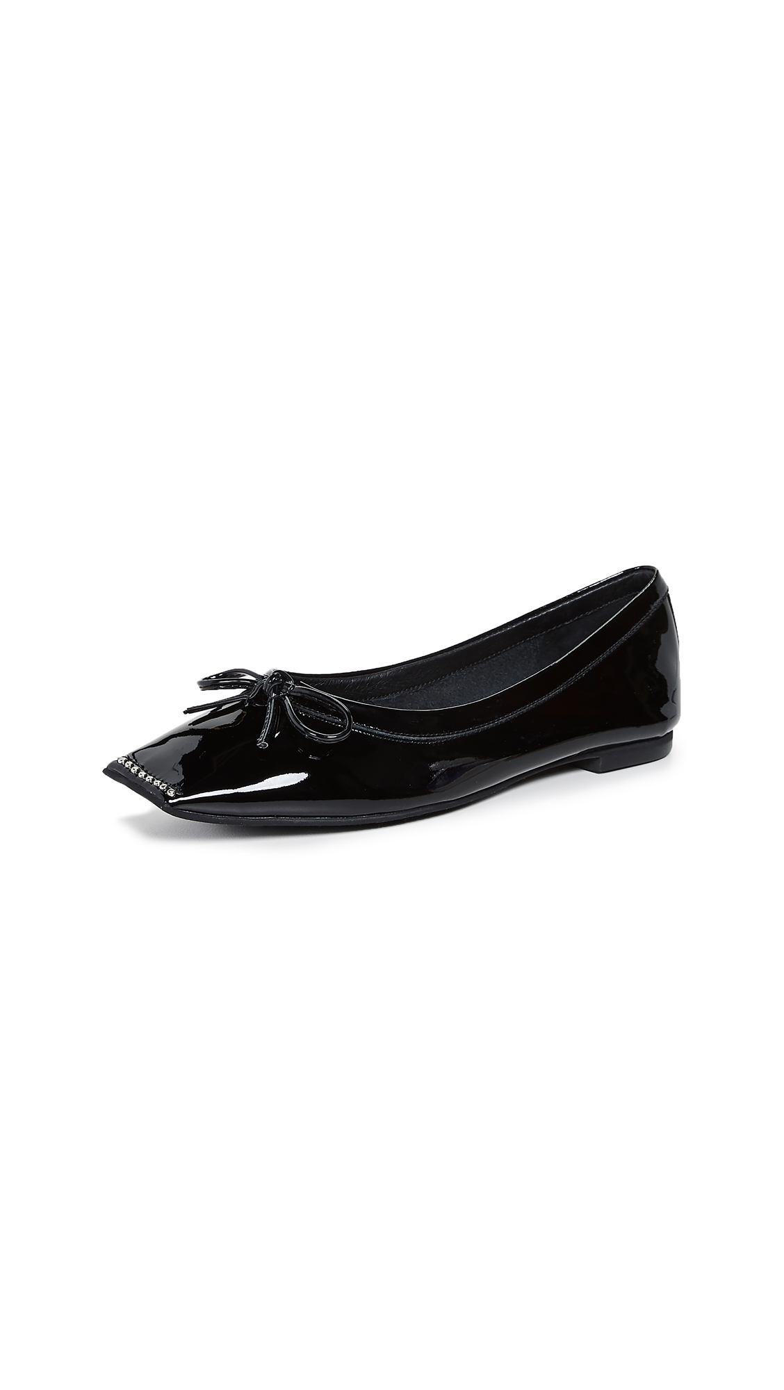Jeffrey Campbell Achira Square Toe Flats - Black
