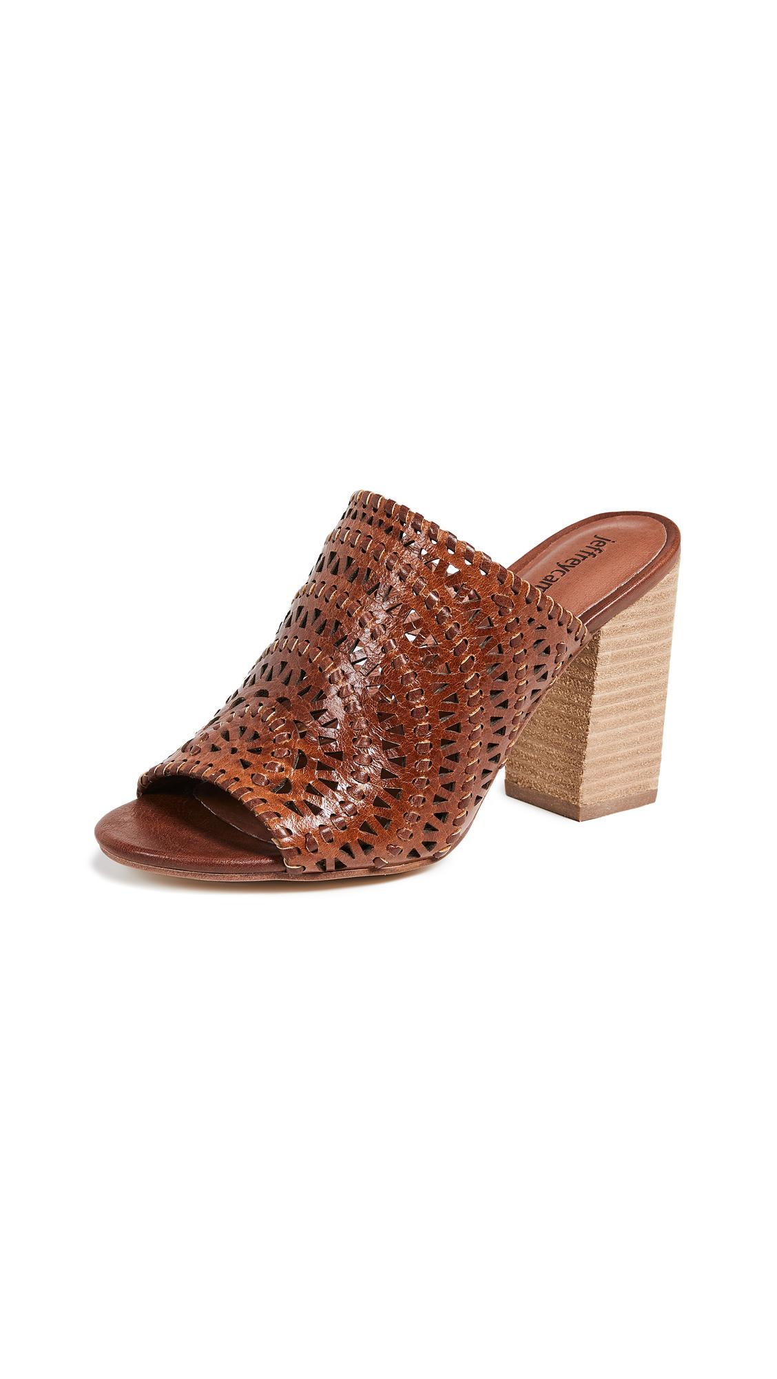 Jeffrey Campbell Kelowna Woven Block Heel Mules - Tan