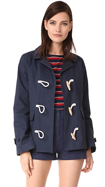 Jenni Kayne Toggle Coat in Navy Blue