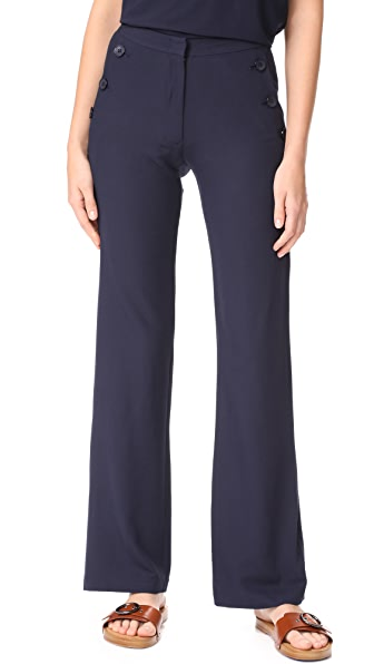 Jenni Kayne Button Birkin Pants - Navy